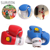 1 Pair Kids Children Kick Boxing PU Leather Boxing Gloves Training Punching Gloves Pads For Kids