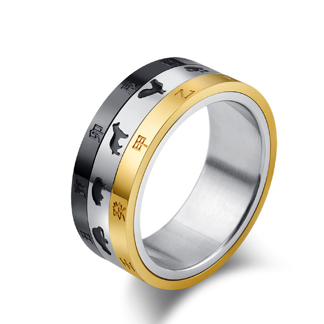 Black And Gold Color Custom Alliance Stainless Steel Rotating