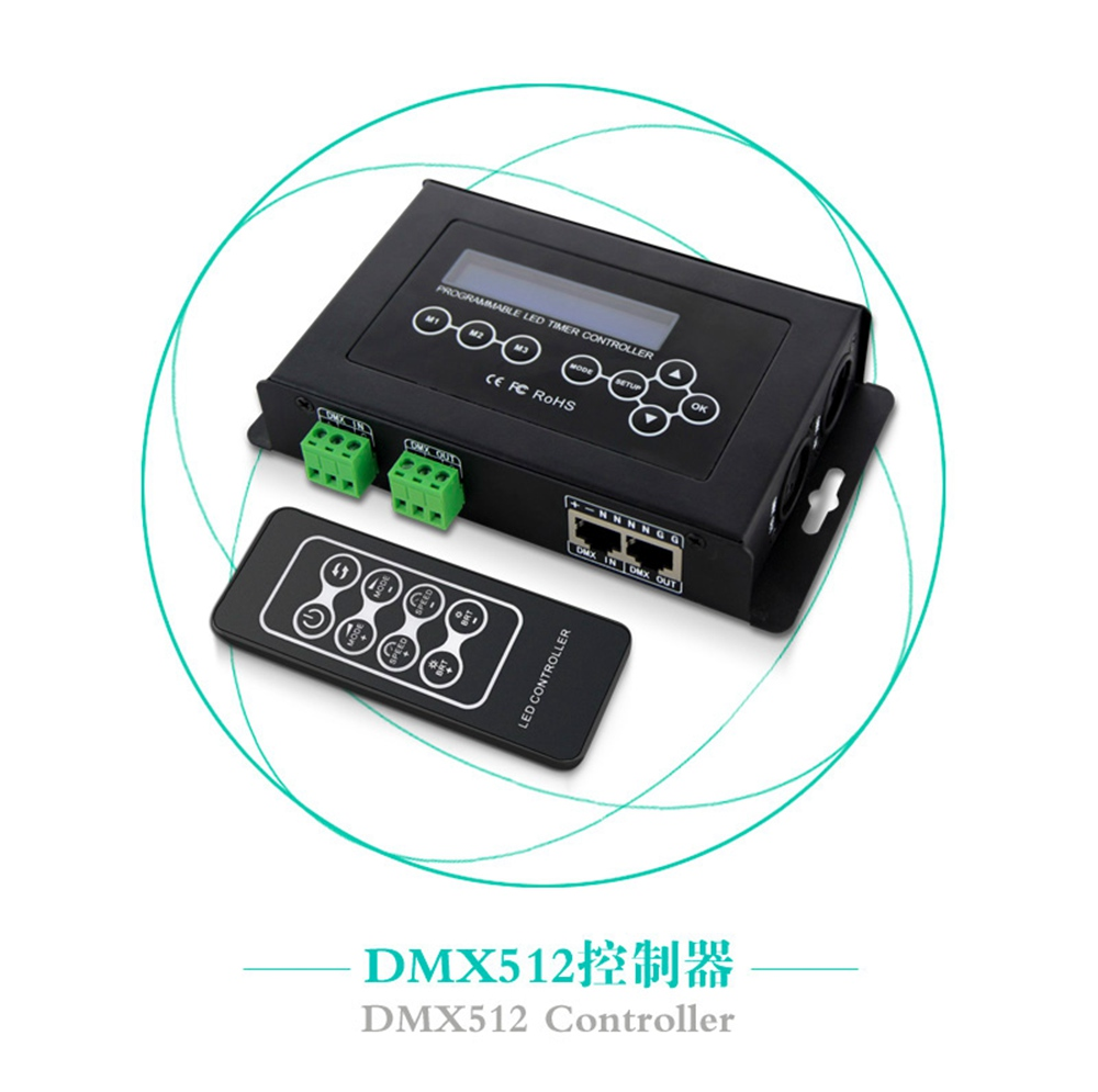 BC 100 DC9V светодиодный RGB контроллер DMX512 сигнал 170 пикселей светодиодный светильник контроллер ЖК дисплей RF беспроводной пульт дистанционного... - 2