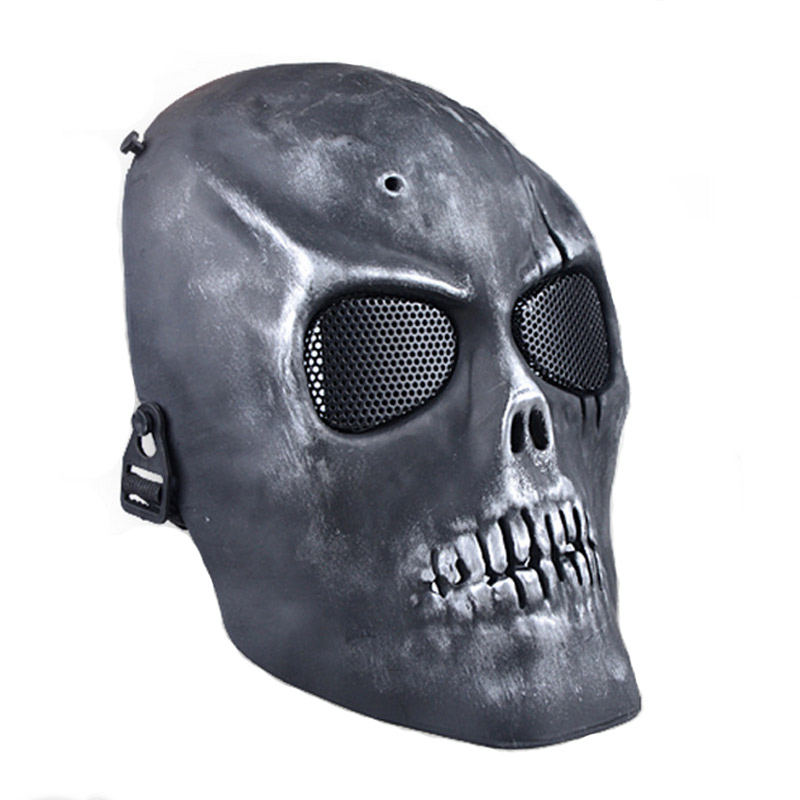 Skull Skeleton Airsoft Paintball CS Army Mask Full Face Protect Mask Shot Helmets Mask Halloween Party Cosplay Horror