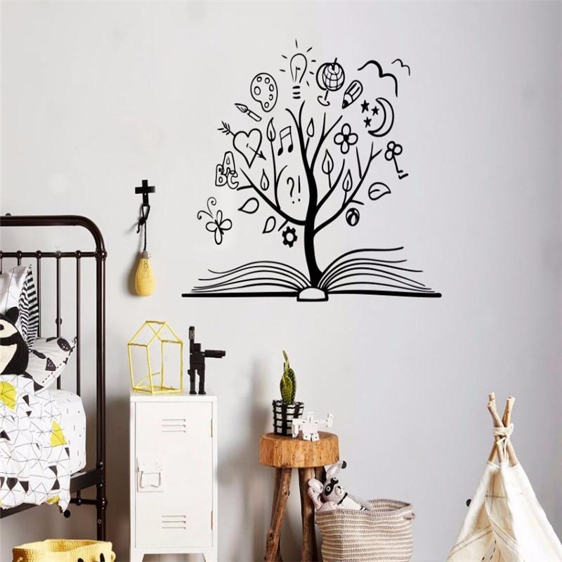 Book Tree Wall Decal Vinyl Sticker Library School ...
