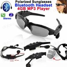 Óculos inteligentes Bluetooth fone de Ouvido Fone De Ouvido Óculos Polarizados 4 gb MP3 4g U-disk Player Disco Flash USB Sem Fio fones de Ouvido estéreo
