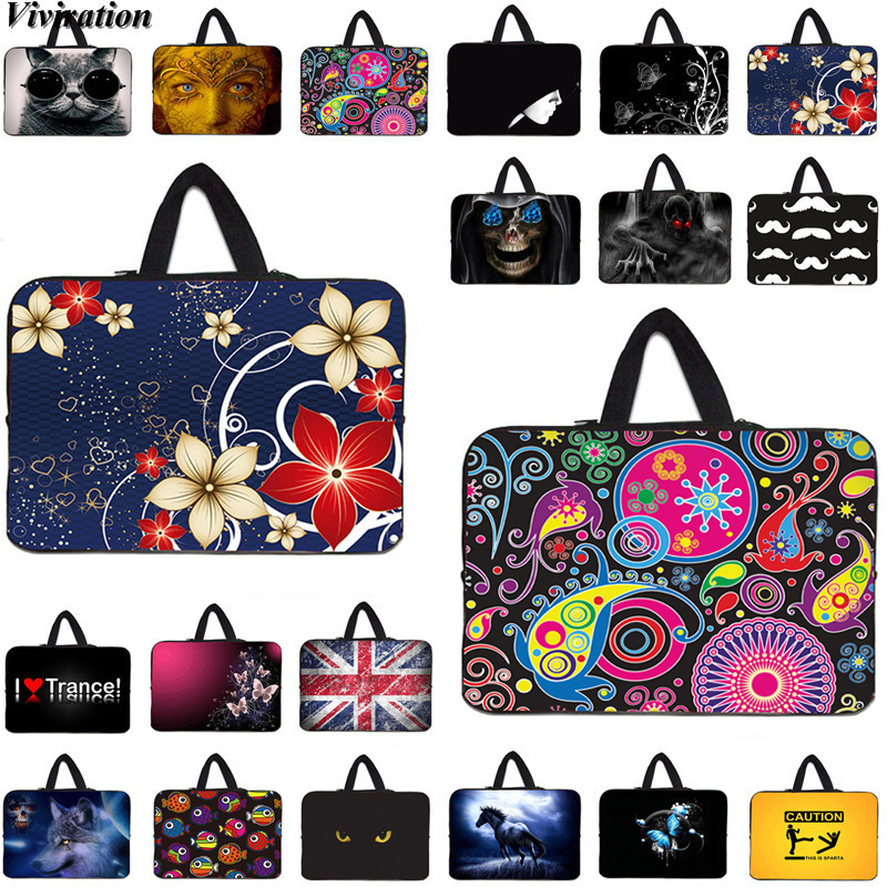 Beautiful Folwers Printing Women Girls Computer Bag 10 12 13 14 15 17 17.3 15.6 9.7 Inch Viviration Sleeve Carry Laptop 13.3 Bag