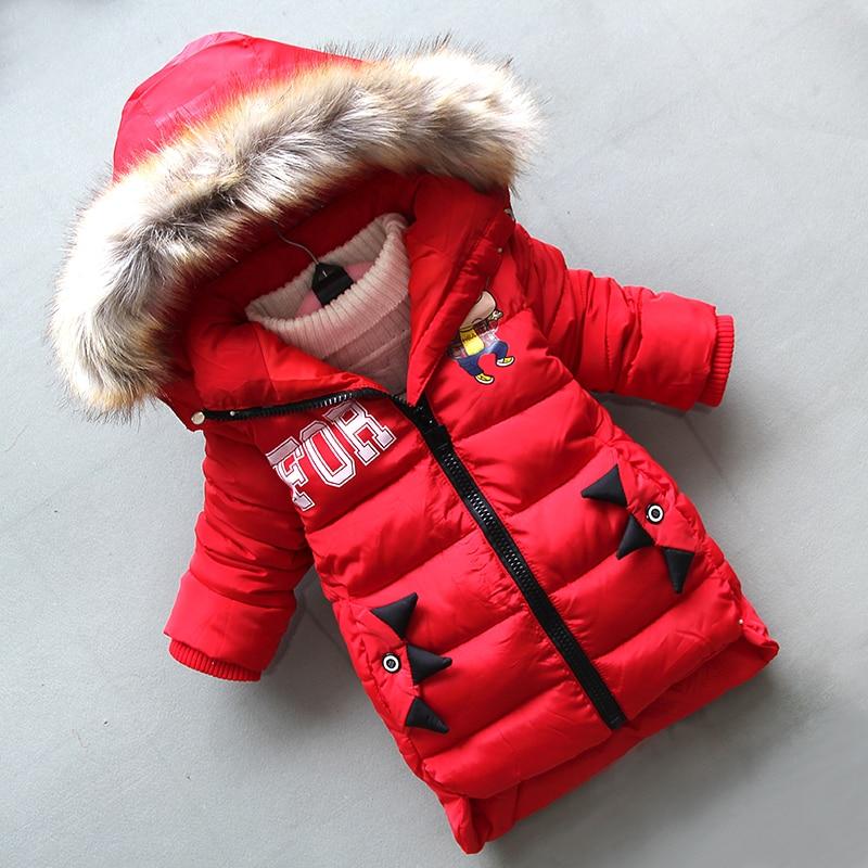 BibiCola new winter boys jacket 2018 fashion long dowm coats children thicken warm hoodie jackets boys kids cartoon jacket coats цена