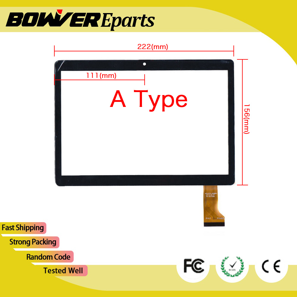 A+ Touch screen digitizer For 10.1 BDF Tablet  MGLCTP-90894  MGLCTP - 90894 WY-9018 Touch Panel Glass Sensor 222X156mm white or black new touch screen for 10 inch bdf tablet ch 1096a1 fpc276 v02 touch panel digitizer glass sensor replacement
