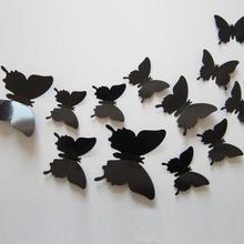12 шт./компл. Новое поступление 3D творческий наклейки на стену с Бабочка ПВХ обувь с украшениями в виде цветков и бабочек, стикеры для домашнего декора