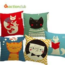Actionclub car home style decoración throw pillow cojín decorativo almohada gatos encantadores de moda europea cojín cojin hh524