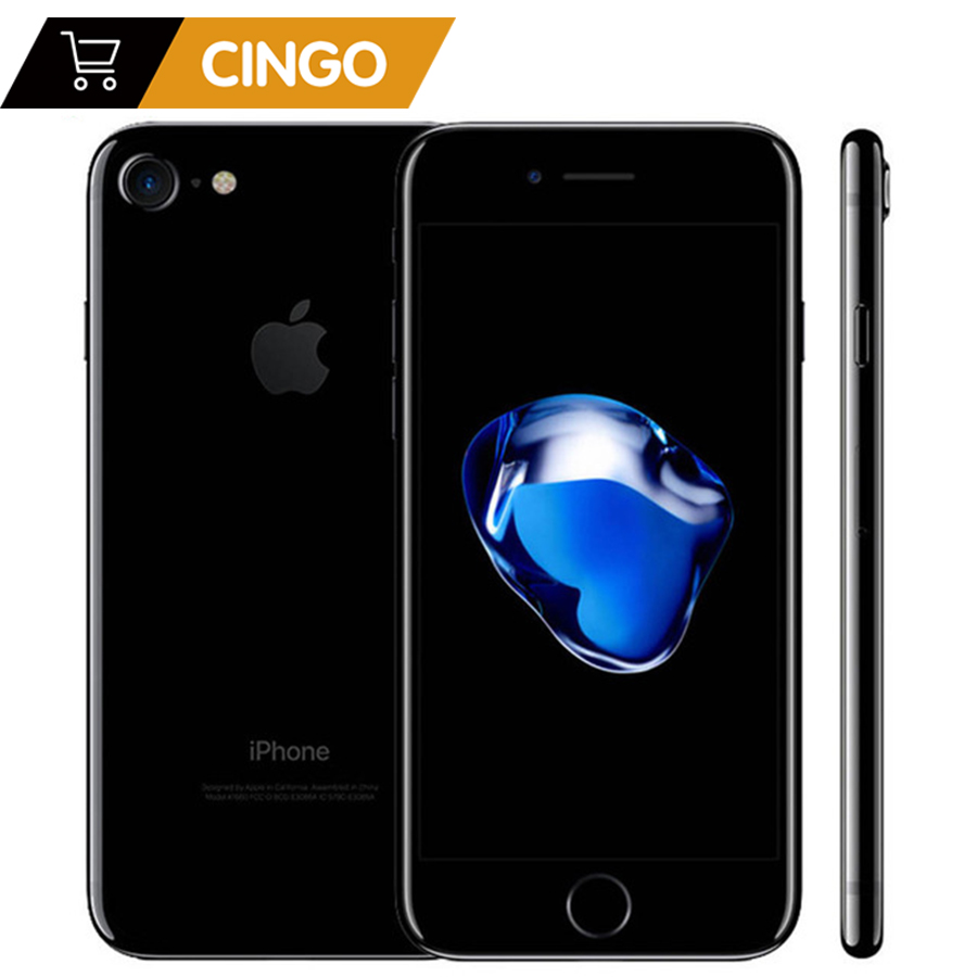 Desbloqueado apple iphone 7 4g lte celular 32/128 gb/256 gb ios 12.0mp câmera quad-core impressão digital 12mp 1960ma