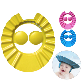 Hot Sale Children Waterproof Cap Safe Baby Shower Cap Kids Bath Visor Hat Adjustable Baby Shower Cap Protect Eyes Hair Sun visor 1