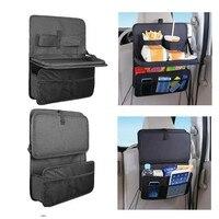 Car Styling Waterproof Car Backseat Back Organizer Holder Auto Back Multi Pocket Storage BagTable Hanger Auto