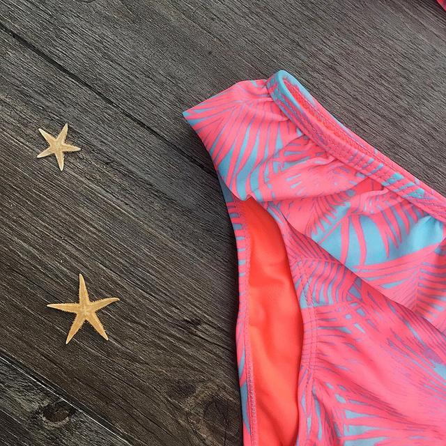 New 2018 Kids Swimwear Bikinis Set For Girls Printing Bathing Swimsuit 2 Pieces Female Split Baby Children Swimwear Girls Bikini