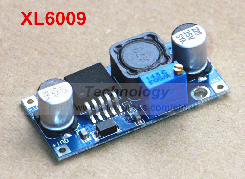 Free shipping! 1pcs DC-DC Adjustable Step-up boost Power Converter dcdc Module XL6009 Replace LM2577 xl6009 dc dc step up module boost converter adapter 4a adjustable power supply dc step up board voltage regulator replace lm2577