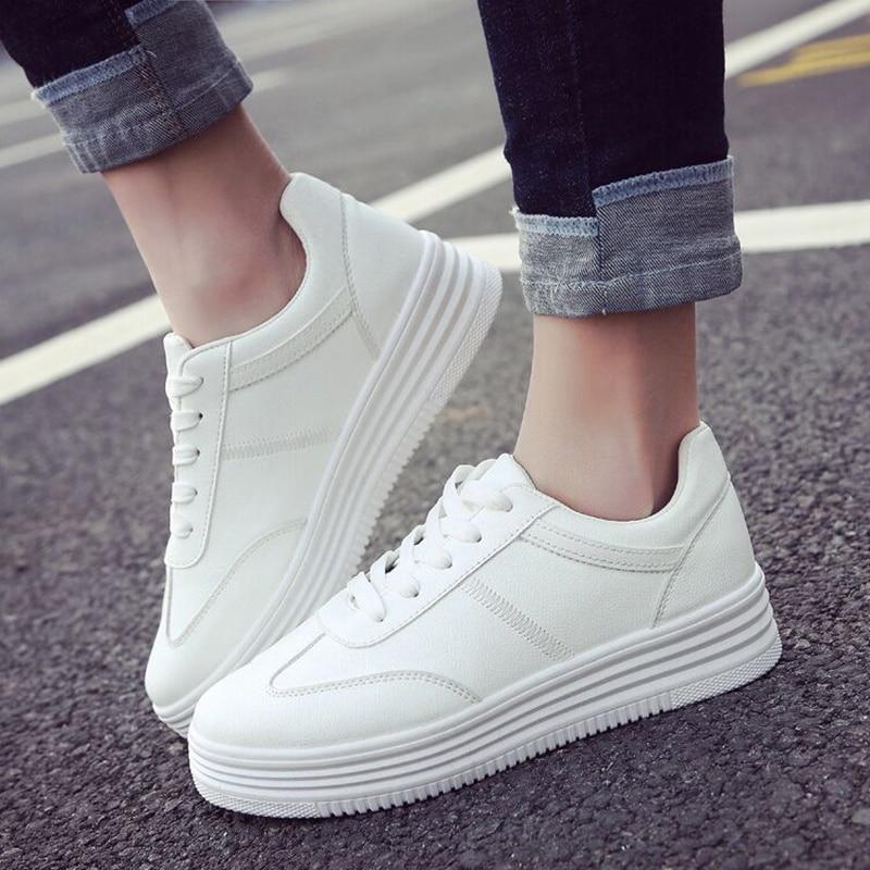 Mode Kvinnor Sneakers Kvinnor Tillfälliga Skor Bekväm Öka Soles - Damskor - Foto 1