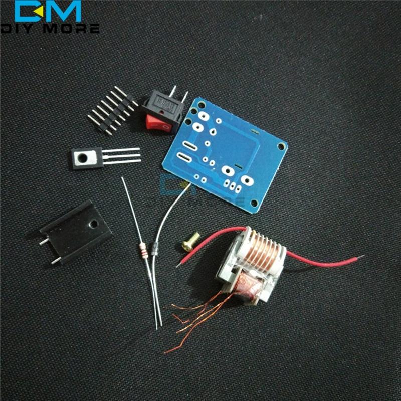 15KV High Frequency DC High Voltage Arc Ignition Generator Inverter Boost Step-Up 18650 DIY Kit U Core Transformer Suite 3.7V
