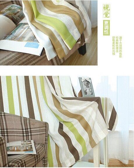 aliexpress.com : acquista mediterraneo blu verde a strisce tende ... - Tende A Strisce Moderne