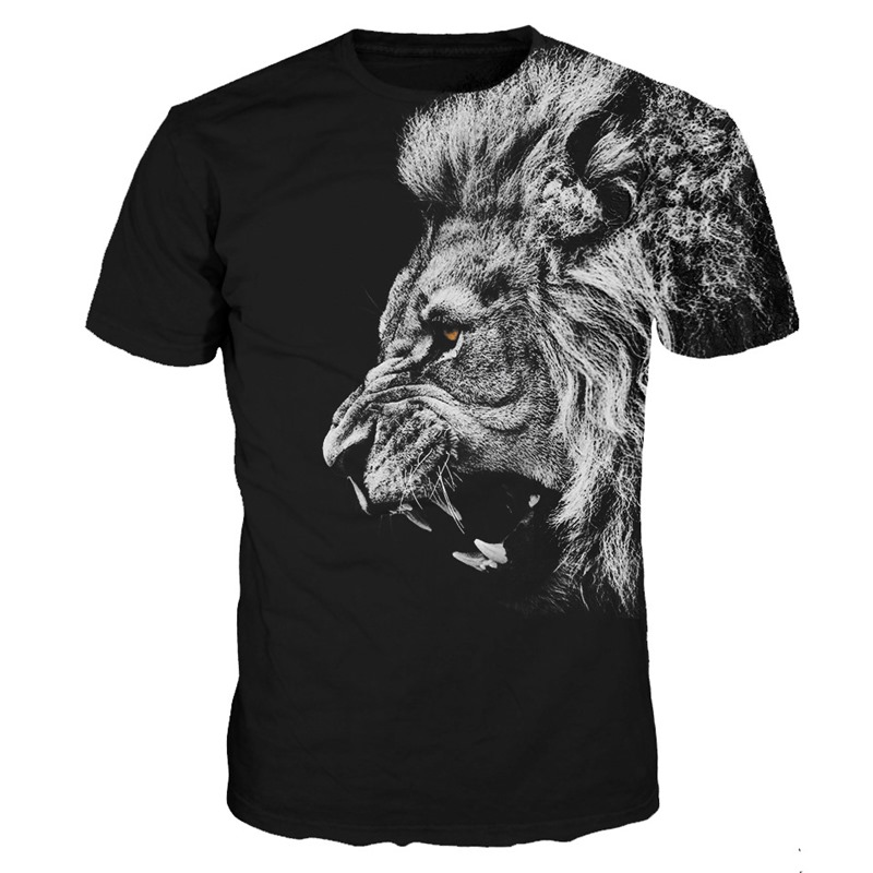 Classic Lions T-shirt Animal 3d Print Casual t shirt Men Summer Sexy tshirt Tops Harajuku Tee Shirts