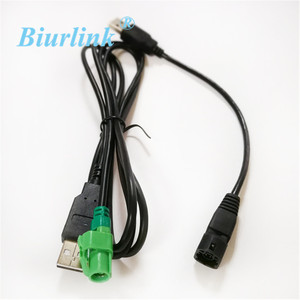 Biurlink Radio Headunit USB Wire USB Transfer Adapter For VW BMW CD Player 4-Pin Socket(China)