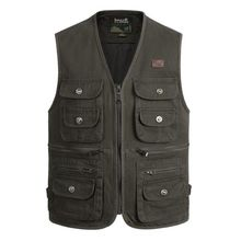 New Summer men Outdoors Travels Vests Mesh Vest  Photographer Shooting with Many Pocket Wholesale size S-4XL