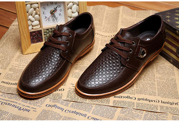2019 Men Leather Casual Shoes Men's Lace Up Footwear Business Adult Moccasins Male Shoes Chaussure Home