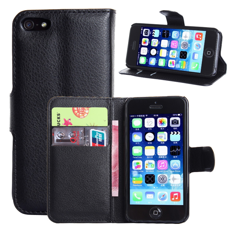 wallet leather case for iphone 5 5s 5c se luxury coque. Black Bedroom Furniture Sets. Home Design Ideas