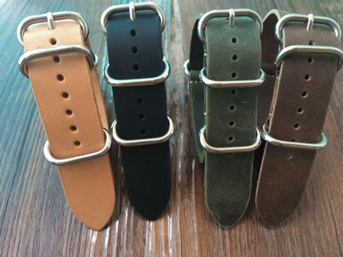 цена  Special offer  20 22 24 26mm Crazy Horse Leather Watchband, Fashion  NATO Watch Strap,Free Shiping  онлайн в 2017 году