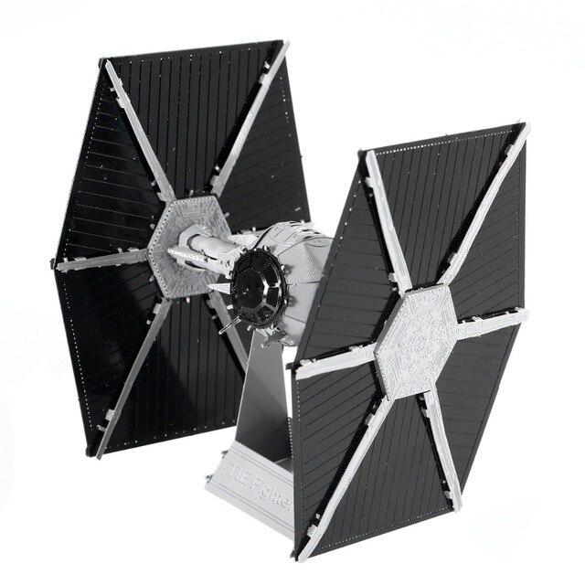 Metal 3D assembly model Star Wars Force awakening TIE Fighter model Color version Assembly model