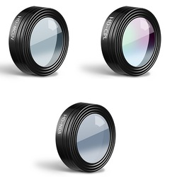 3 Pieces UV+CPL+ND8 Lens Filters for DJI Mavic Air RC Quadcopter Drone Accessories Waterproof Aluminum Alloy