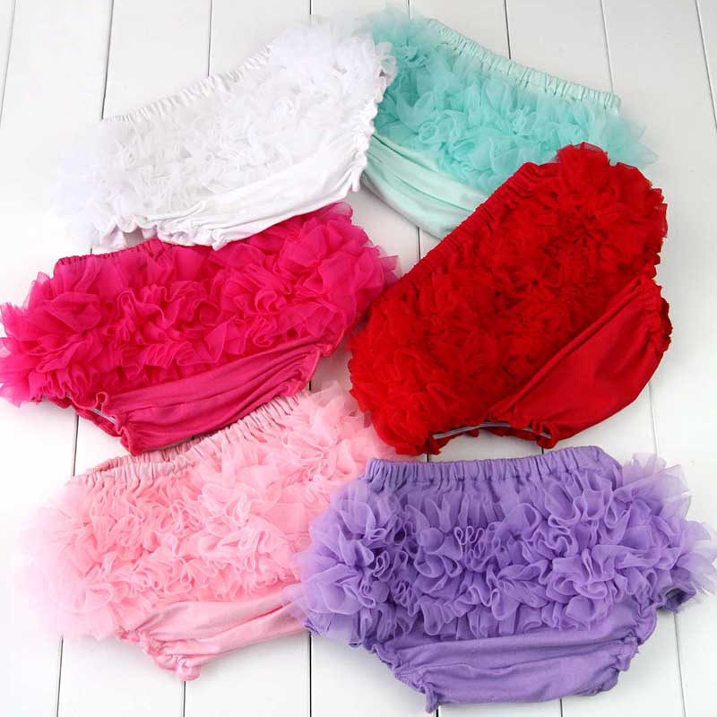 Cotton Ruffle Infant Toddler diaper covers,Baby Bloomers 7 colors Panties Ruffle   Shorts   Toddler Diaper Covers