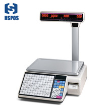 Newest 6000 PLUs Electronic POS Barcode Label Weighting Scale with 400 pictures storage capacity for Supermarket Retail Shops цена