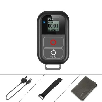 for GoPro WiFi Remote Control With Charge Cable Wrist Strap Waterproof Remoter for Go Pro Hero 7 6 5 4 Session Accessory
