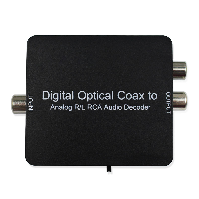 Digital to Analog Decoder Support Dolby DTS  D2A Optical Coaxial to Analog  L/R Audio 3.5mm Earphone dts audio decoder digital ac3 optical to stereo surround analog hd 5 1 audio decoder 2 spdif ports hd audio rush for hd players dvd xbox360
