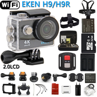 Original EKEN Action Camera eken H9R/H9 Ultra HD 4 K wi-fi de Controle Remoto Sports Video Camcorder DV DVR ir À Prova D' Água pro câmera