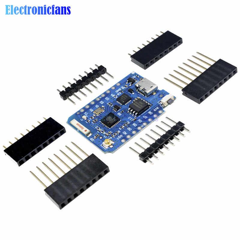 Para WEMOS D1 Mini Pro 16 M Bytes conector de antena externa NodeMCU ESP8266 ESP-8266EX CP2104 WIFI Placa de desarrollo Micro USB