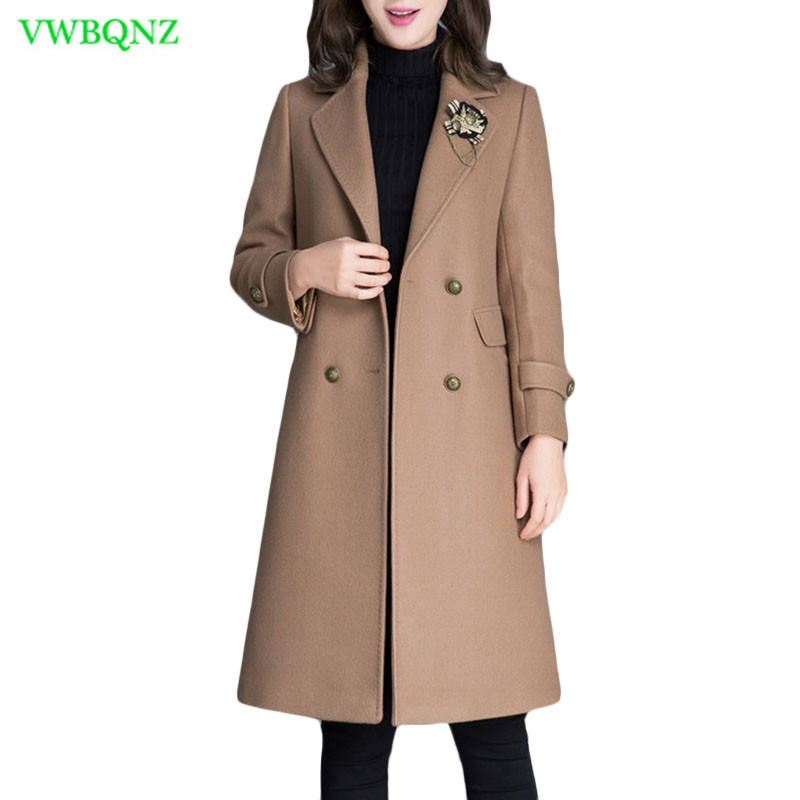 b73a05053c ᗗ Autumn Winter New Women Woolen coat Female Long Temperament Thin ...
