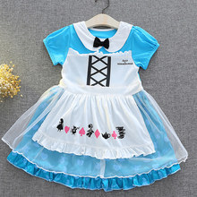 2018 Summer Alice in Wonderland Baby Girls Dress Children Tutu Birthday Party Cosplay christmas costumes infant infant clothi(China)