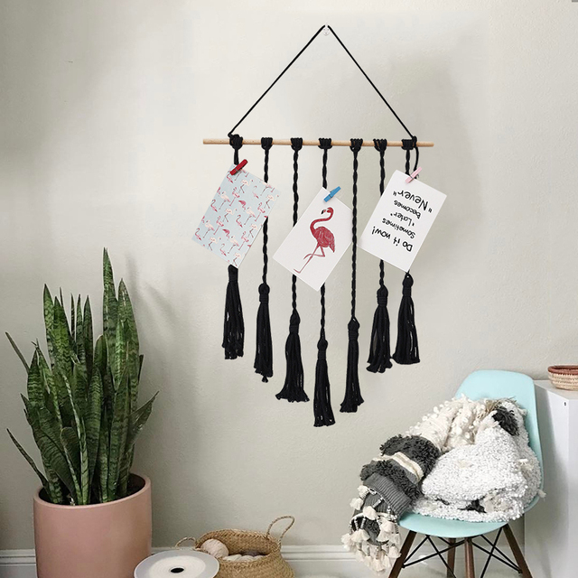 Ins bohemian simple wall hangings tassel tapestry bedroom children\'s ...
