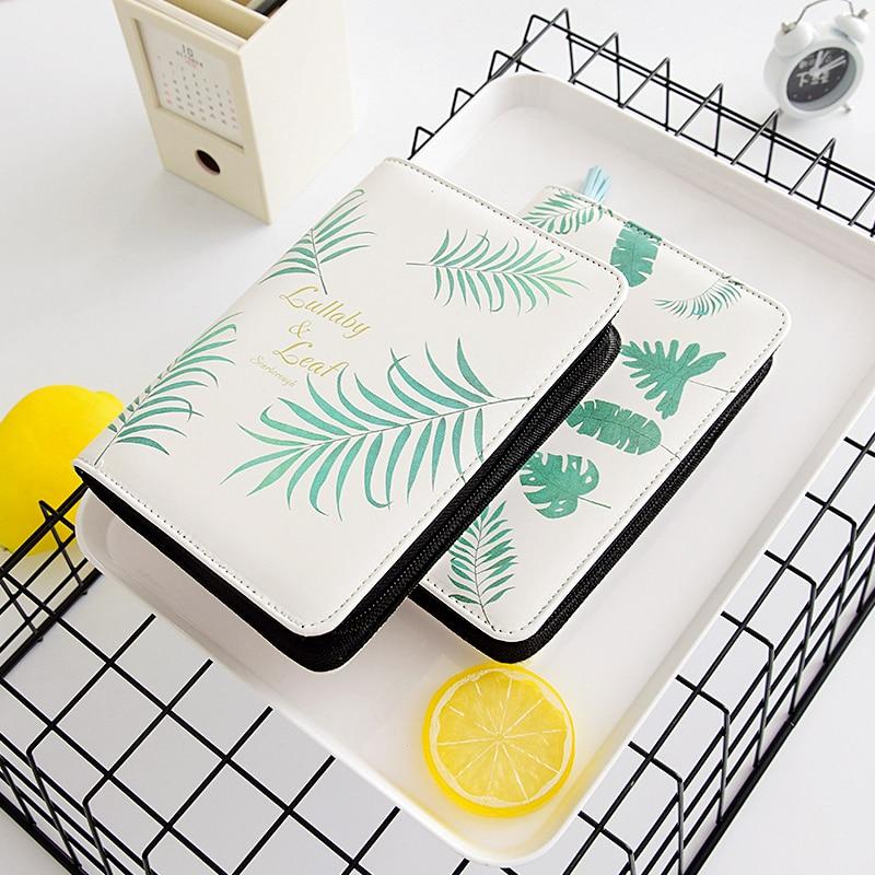 MIRUI Simple Handbook Multifunctional Leather Zipper Notepad Business Diary Small Fresh Korean Stationery Notebook it ethics handbook