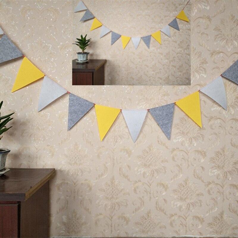 4 м 12 флагов серый желтый белый вымпелы флажки баннер для свадьбы/Хэллоуина искусственная подвесная гирлянда декоративные принадлежности