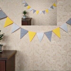 Image 2 - Banderines grises y blancos de calidad, pancarta de banderines para boda/Día de San Valentín/Cumpleaños, banderas de fiesta, guirnalda colgante, suministros de decoración