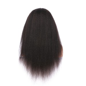 Image 3 - ALICE Kinky Straight Lace Front Human Hair Wigs Bleached Knots Brazilian no Remy Hair Glueless 13*4 With Baby Hair 130% Density