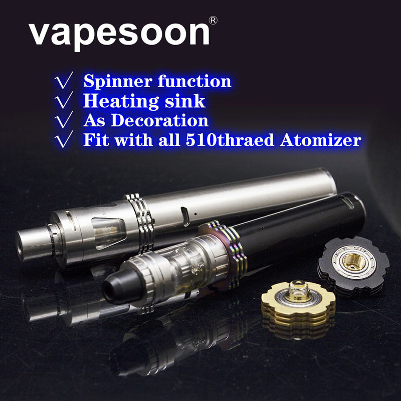 Новые прибытие распылитель радиатор Непоседа Spinner 510 электронная сигарета радиатор стенд 25,5 мм для 510 потоков распылителя
