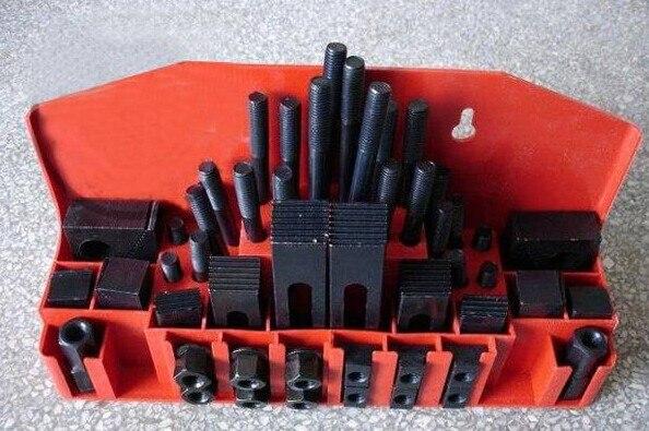 Zestaw mocujący do frezarki 58 szt. Zestaw zacisków młyna Vice M12 uniwersalny zestaw mocujący płyta dociskowa