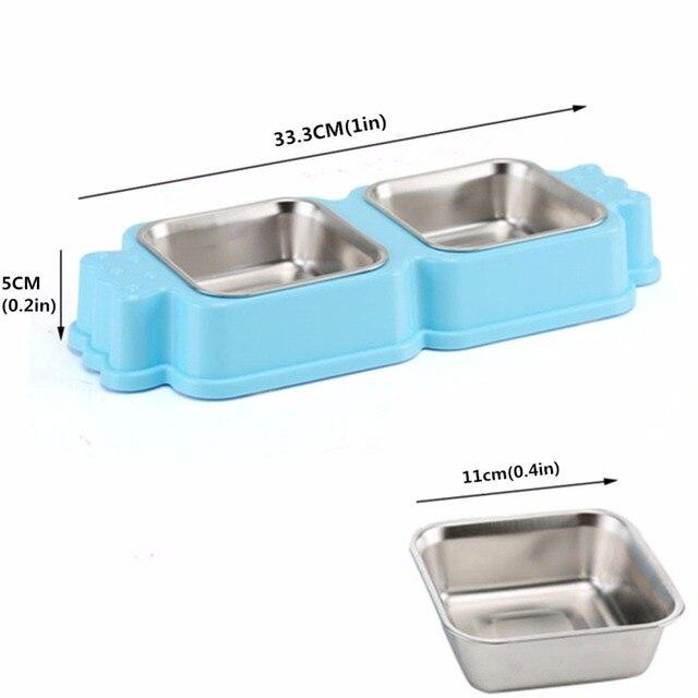 Dog Double Bowl Feeder Animal Food Bowls Puppy Pet dog&cat Bowl accesorios para perros  dieren benodigheden hond