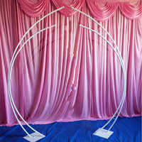 2pcs/set iron frame wedding arch road lead iron art wedding stage background door road lead moon arch birthday party supplies