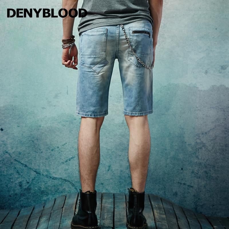 2017 sommer Herren Distressed Jeans Gerissen Kurze Hose
