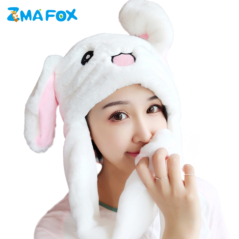 Fast Deliver M Mism Girl Rabbit Ears Funny Hat Lovely Moving Ears Hat Women&children Soft Excellent Gift Party Festival Hair Accessories Girl's Hats Apparel Accessories