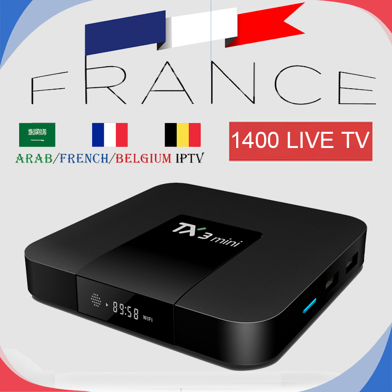 France IPTV TX3Mini Android TV Box 7.1 With 1200+ French Arabic Live IPTV M3u Channels VOD Football Support 4K Smart TV Mag 25X цена