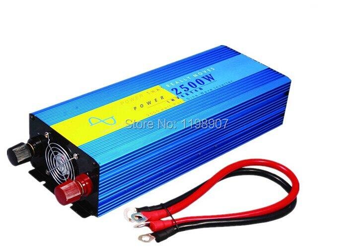 Pure inverter 2500w pure sine wave power inverter dc 12v or 24v to ac 220v/ 230v 2.5kw solar inverter Sinus inverter