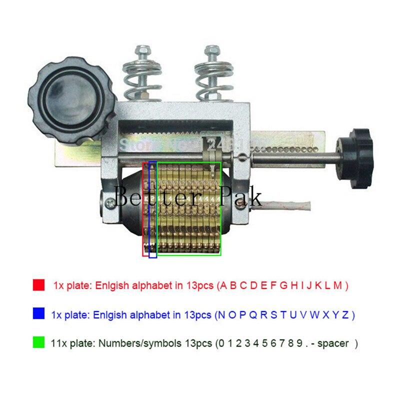 Imprimante de code de composition, machine de codage de cadran, Machine d'estampillage automatique, machine de pliage de LOGO en cuir
