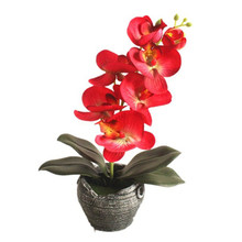 Vintage Potted Artificial Silk Butterfly Orchid Flower Bonsai Simulated Plants Wedding Party Home Desktop Decoration